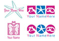 Set of logo for wedding planner and co logos expecially designed beach weddings similar Royalty Free Stock Images