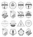 Set of  logos and badges music