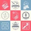 Set logos and Badges Rap Music Royalty Free Stock Photo