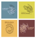 Set logos characters of Ramayana
