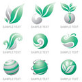 Set of logos of nature Stock Photography