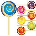 Set of lollypops Royalty Free Stock Photos