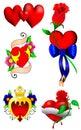 Set of love hearts Stock Photography