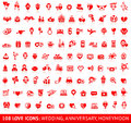 Set Love Red Icons