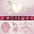 Set of love vector elements Royalty Free Stock Image
