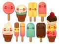 Set of Lovely Ice Cream