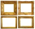 De lujo dorado marcos