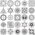 Set of Magic and Alchemy Sigils Vectors