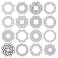 Set of magic knotting circles