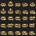 Set of mail icons Stock Photo