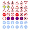 Set of the main road of signs icons