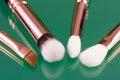 Set of makeup brushes Royalty Free Stock Photo