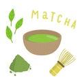 Set for making matcha tea.
