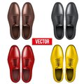 Set of male fashion classic shoes vector illustration on white background Royalty Free Stock Photography