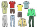Set of male household clothing Royalty Free Stock Images