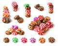 Set of many colorfull sweets Stock Photography