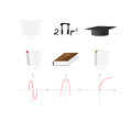 Set of many Education Icons Royalty Free Stock Images
