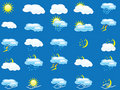 Set of many weather icons Stock Images