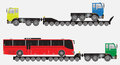 Set of Many Wheel Trailer and Truck for Heavy Weight Transportat