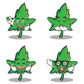Set of marijuana character cartoon