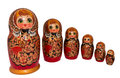 Set of matreshkas russian nested dolls also known as matryoshka Royalty Free Stock Photos