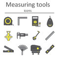 A set of measuring instruments used in construction to measure distances and other variables.