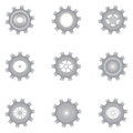 Set of mechanisms on a white background Royalty Free Stock Photos
