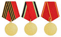 Set of medal on white Royalty Free Stock Photo