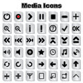 Set of Media icons Royalty Free Stock Photo