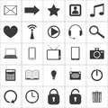 Set of media icons vector eps Stock Photography