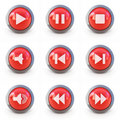 Set of media player buttons Royalty Free Stock Photo