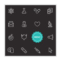 Set of Medical Hospital Vector Illustration Elements can be used