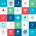Set of medical icons for medicine healthcare pharmacy veterinarian dentist Stock Photography