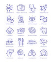 Set of medical icons, vector line signs Royalty Free Stock Photo