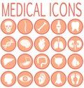 Medical round icons set