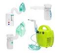 Set of medical ultrasonic, compressor and mesh inhaler, nebulizer