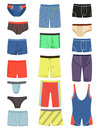 A set of mens underwear and swimming trunks for swimming Stock Images