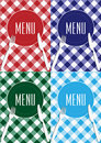 Set of Menu Card Covers Royalty Free Stock Image
