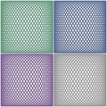 Set of mesh patterns Royalty Free Stock Photos
