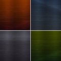 Set of metal background textures four illustration Royalty Free Stock Images