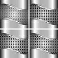 A set of metal backgrounds Stock Images