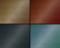 A set of metal backgrounds of perforated metal different colors Royalty Free Stock Images