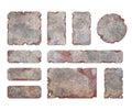 Set of metallic elements