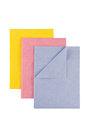 Set of microfiber cleaning towel over white background Stock Photos