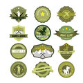 Set of military and armed forces badges labels Stock Photography