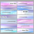 Set of modern banners. Abstract wave vector Royalty Free Stock Photo