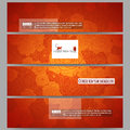 Set of modern banners. Chinese new year background. Floral design with red monkeys, vector illustration Royalty Free Stock Photo
