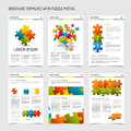 Set of modern brochure flyer design templates Royalty Free Stock Photo