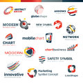 Set of modern designed icons for business Royalty Free Stock Image