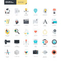 Set of modern flat design icons for graphic and web designers Royalty Free Stock Photo